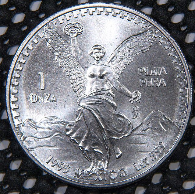 1993 Mex Una Onza silver coin