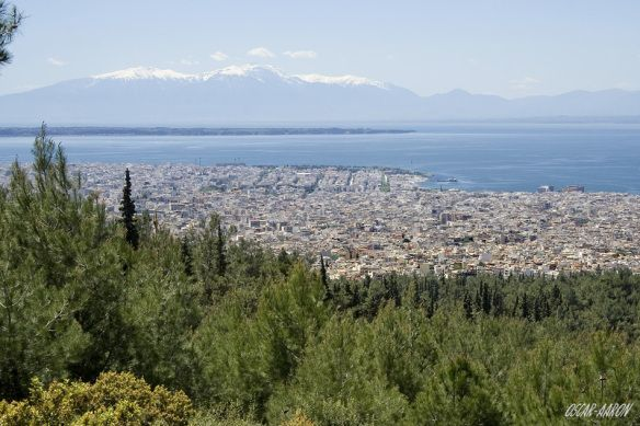 The southern area of Thessaloniki from Mount Seix Sou.
