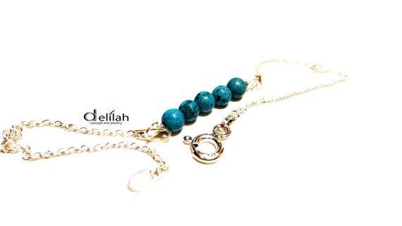 Turquoise Bracelet Birthstone Bracelet Turquoise by mssdelilah