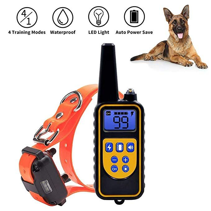 Nacrl Dog Training Collar With Led Light Electronic Rechargeable