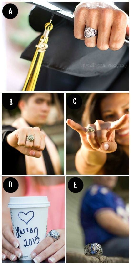 128 Great Graduation Ideas -> I don't have a college class ring, but I like the look of the one with the coffee cup!
