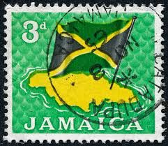 To half quote Grace Jones, 'My Jamaican Flag'.. oh ho!  Seen this quite a lot in recent years with the success of all the Jamaican sprinters, Mssrs Bolt and all.  AM