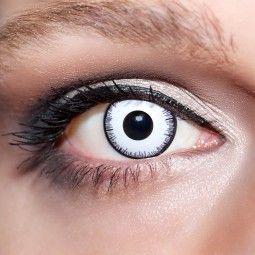 Weiße Kontaktlinsen farbige Vampiraugen Motivlinsen weiß von KwikSibs, intensiv