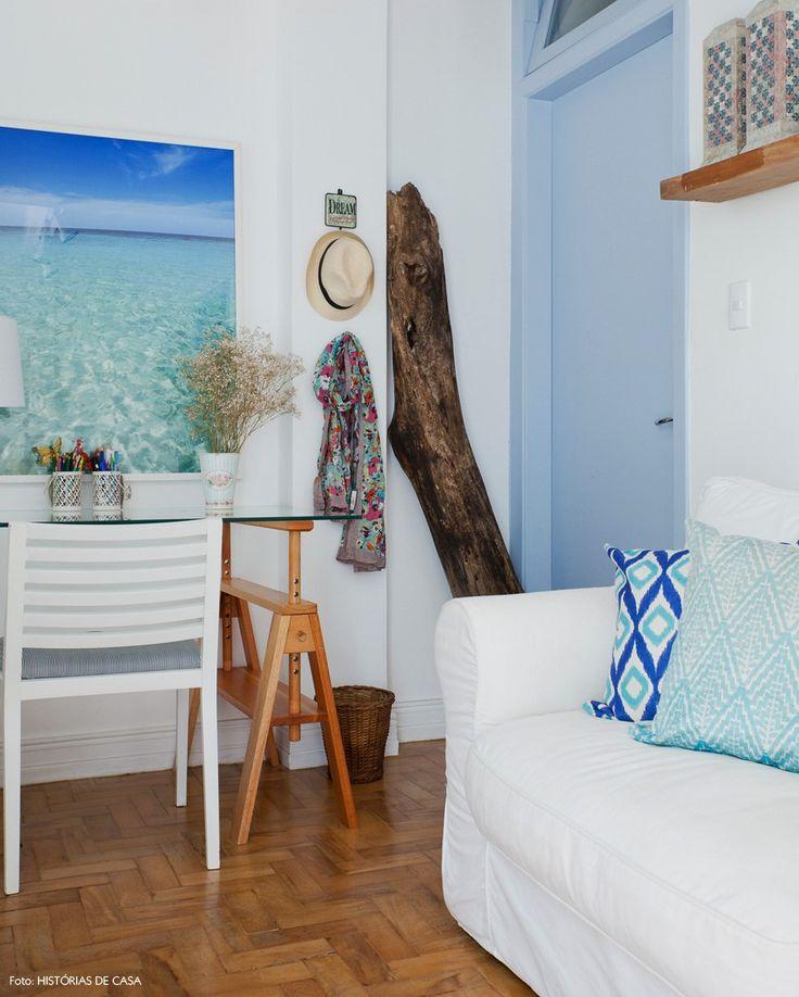 Confira a decor com estilo mediterrâneo desse apartamento em Perdizes. A sensação é de que um pedacinho da praia veio parar no meio de São Paulo.