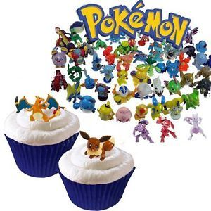Awesome Pokemon Cupcake Figure Favors & Baking Cups.