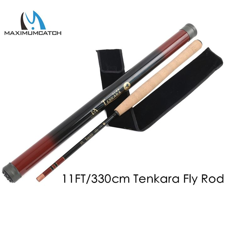 Maximumcatch 11FT/330cm 7:3 Action Tenkara Fly Fishing Rod Graphite Carbon Fiber Telescoping Fishing Pole with Carbon Tube