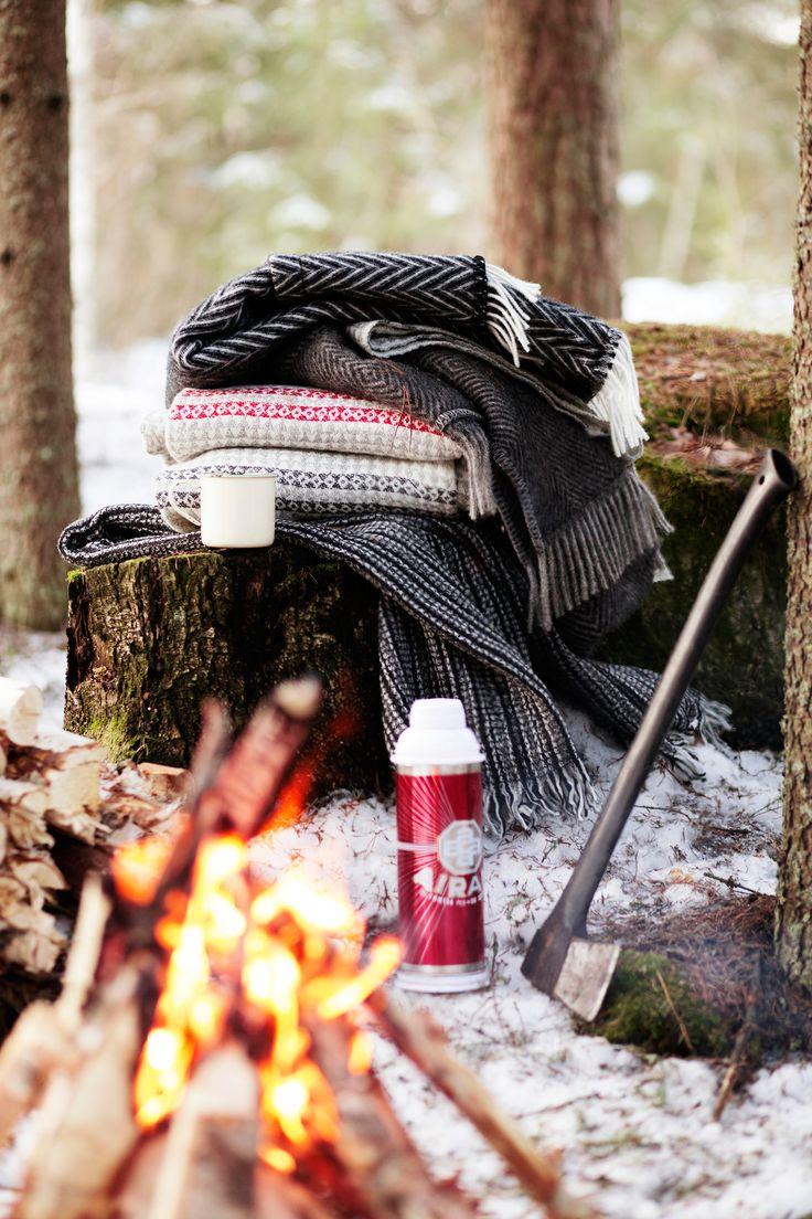 Winter warmth! IIDA pocket shawl, MARIA pocket shawl, AINO blankets, KAARNA scarf, by Lapuan Kankurit.