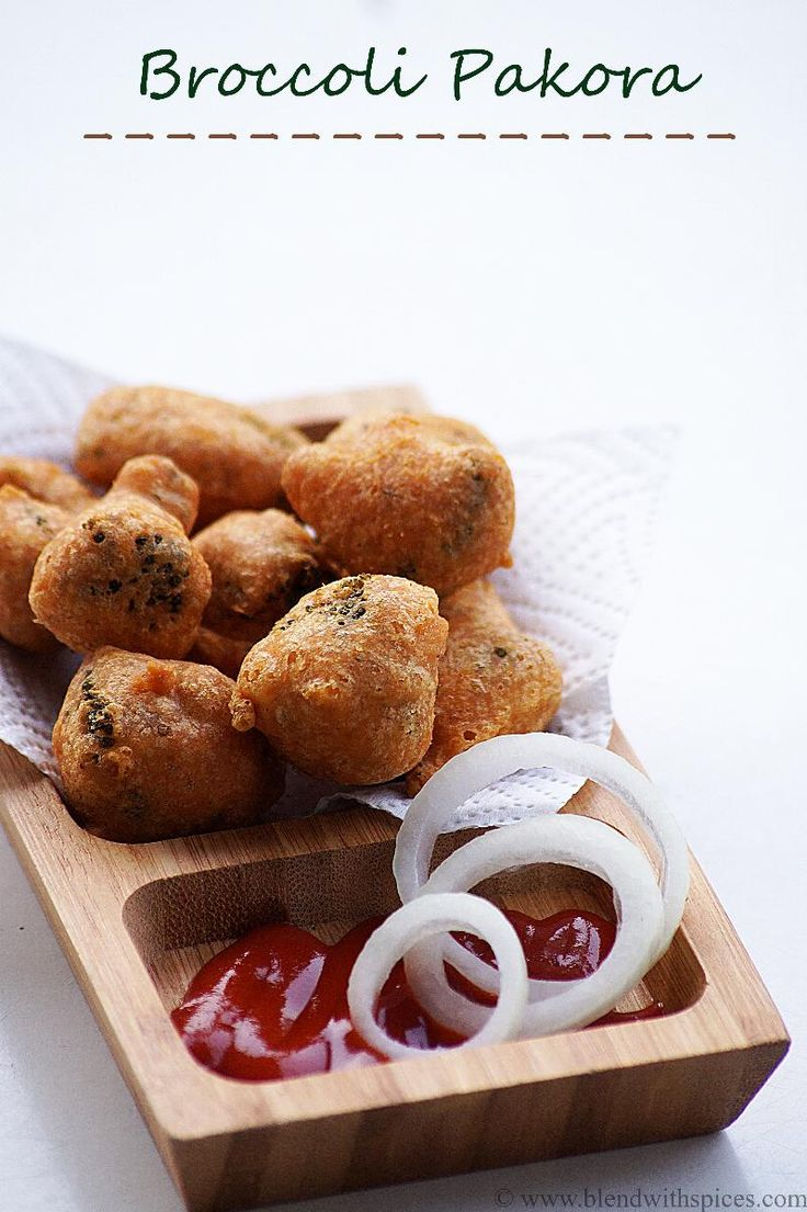 Broccoli Pakora Recipe - How to make South Indian Style Broccoli Fritters Recipe - blendwithspices.com