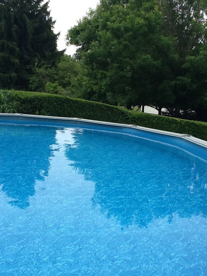 Use Mr Clean Magic Eraser Extra Strength To Clean Black Ring From Vinyl Pool Liner Works Great Above Ground Pool Liners Above Ground Pool In Ground Pools