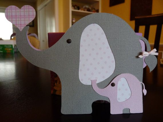 Elephant Baby Shower Invitation or card- set of 10 on Etsy, $25.00