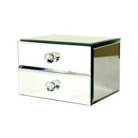 Blue Deco Mirrored Jewellery Box