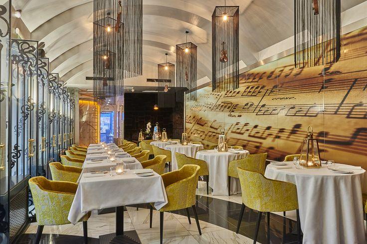 The Stradivari Restaurant inside the Aria Hotel Budapest