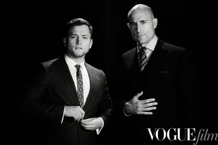 Taron Egerton and Mark Strong for Vogue