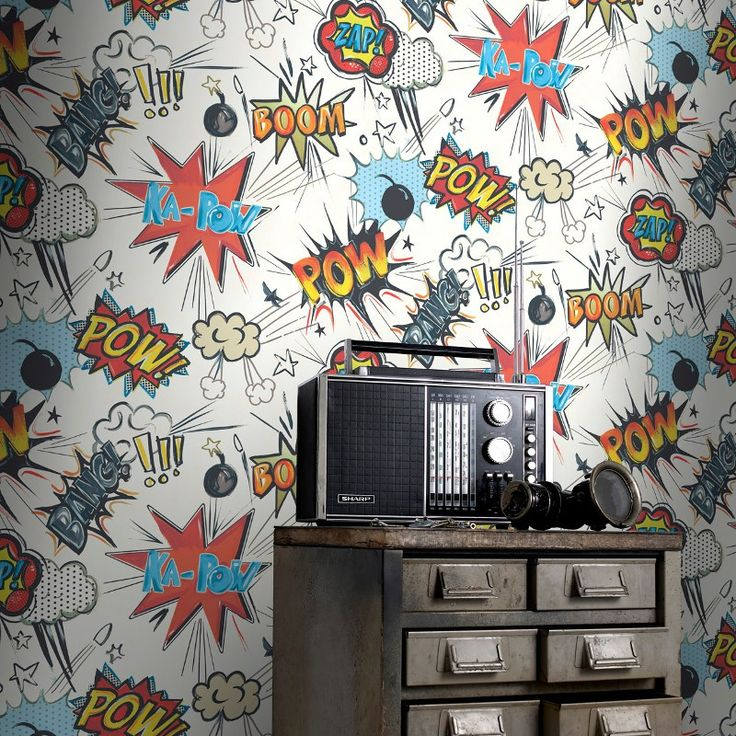 Rasch Ka Pow Wallpaper in Multi-Coloured - 272604
