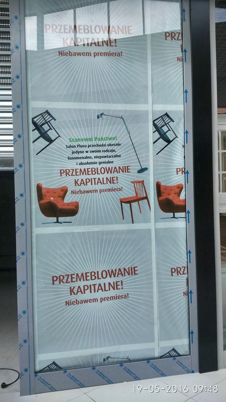 Oklejanie witryn sklepowych Agencja reklamowa b6 wwww.b-6.pl konin slupca września