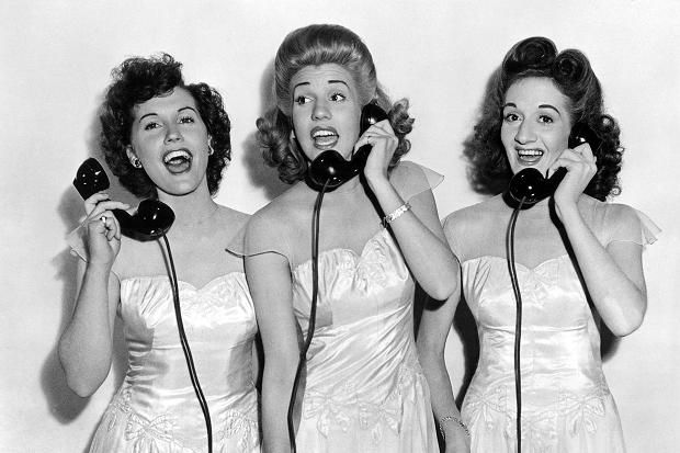 Andrews Sisters... They have sang some of the catchiest songs ever. Listen at your own risk.