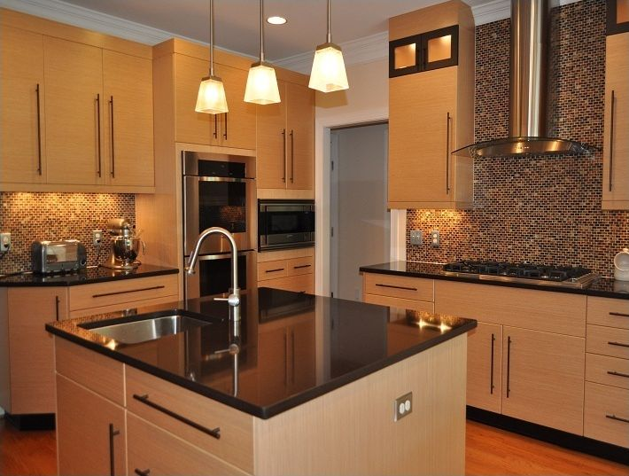 Pin by keri johnson on ideas pinterest for Dark wood kitchens with light countertops