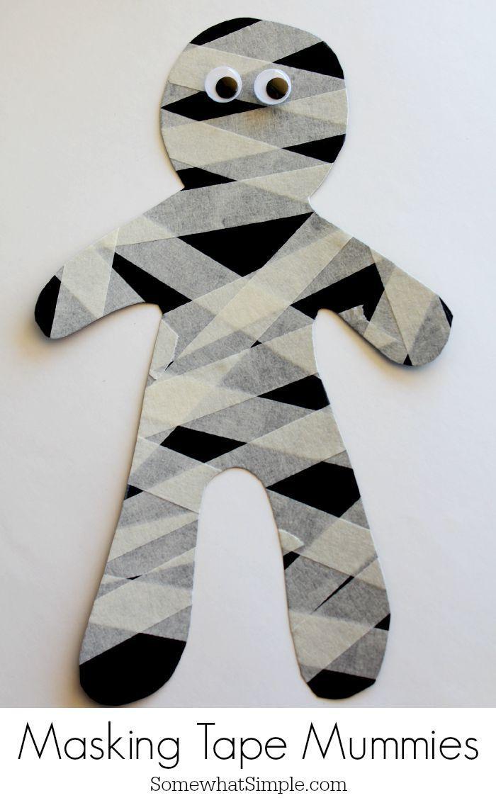 Mummy Crafts and Treats   Mummy crafts, Fun halloween crafts ...
