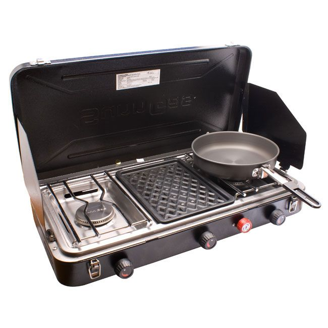Platinum Double Burner Camping Stove And Grill