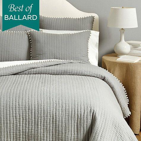 Audree Pom Pom Quilt - buy at Ballard Design