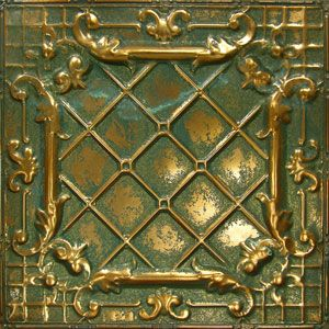 American Tin Ceiling Tiles Pattern 11 In Copper Patina