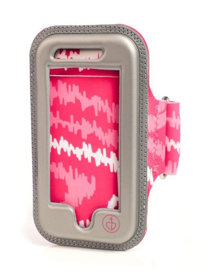 Physique Armband for iPhone 5/5s design by ChicBuds. Protect your iPhone when you run with this stylish armband, stylish as the rest of your accessories. With shocking pink color and a pattern print all over, keep your phone safe when you run. http://www.zocko.com/z/JJ6J6