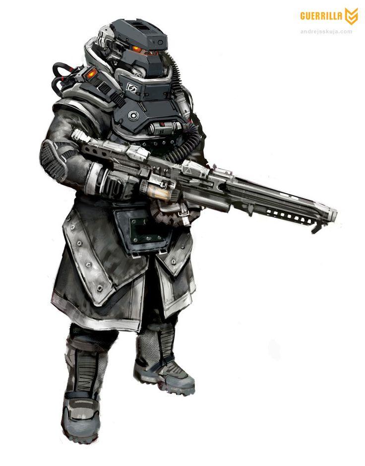 Killzone 3 Hellghast MG Trooper