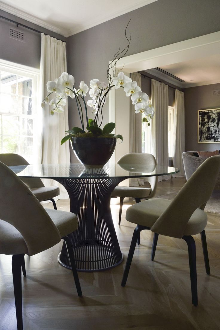 Dining room with new gleaming hardwood floors vision pointe homes - Houses David Hicks