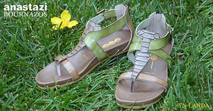 SAFARI CHIC!  Τελειος καλοκαιρινος συνδιασμος χρωματων. Τελειο μαλακο πελμα και σχεδιο που σταματαει τα βλεματα (Σχεδιο: YN-LANDA) - A perfect summer colour combination with a perfectly soft sole and styling to match! (Article: YN-LANDA)