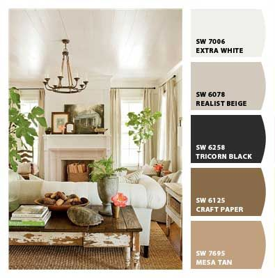 How to Choose the Perfect Wall Color:  If you have an inspiration image but still aren't sure what colors to work with, try the Chip It tool as a starting point.