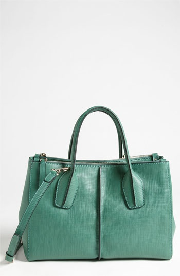 Tod's 'D-Styling' Two Zip Leather Shopper available at Nordstrom