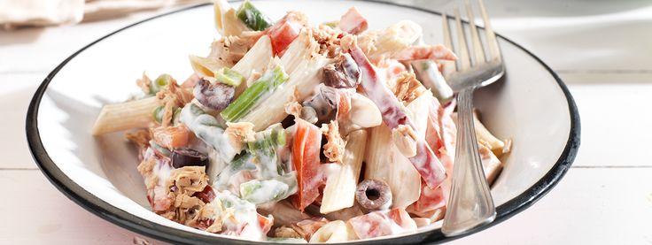 Δροσερή σαλάτα με ζυμαρικά, λαχανικά και Total