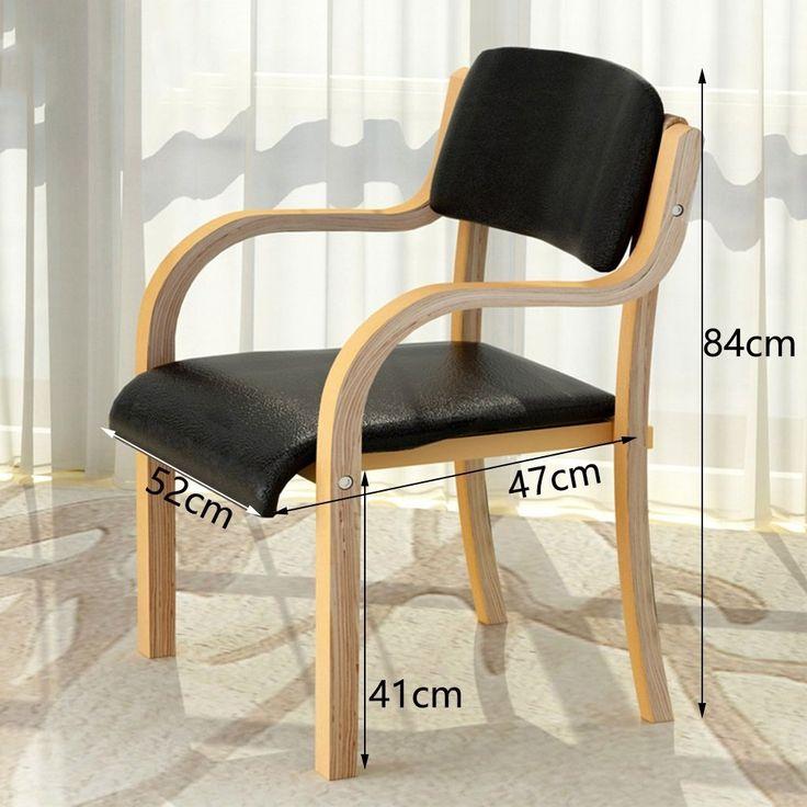 Popular Amazon de ERRU Wooden Esstisch Stuhl B ro Lounge Haushalt St hle Schwarz