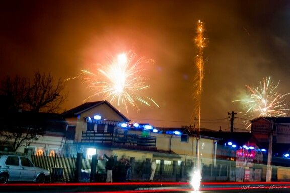 New year fireworks with Nikon d3100 18-55mm VR