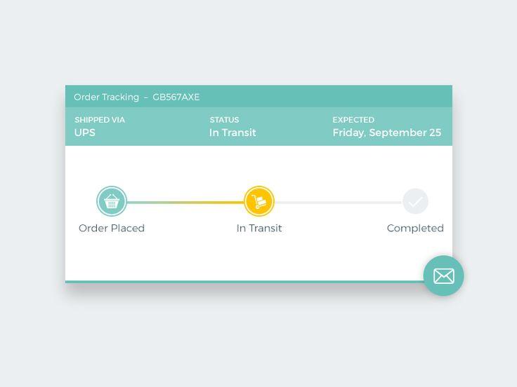 Order Tracking Widget - UI Movement