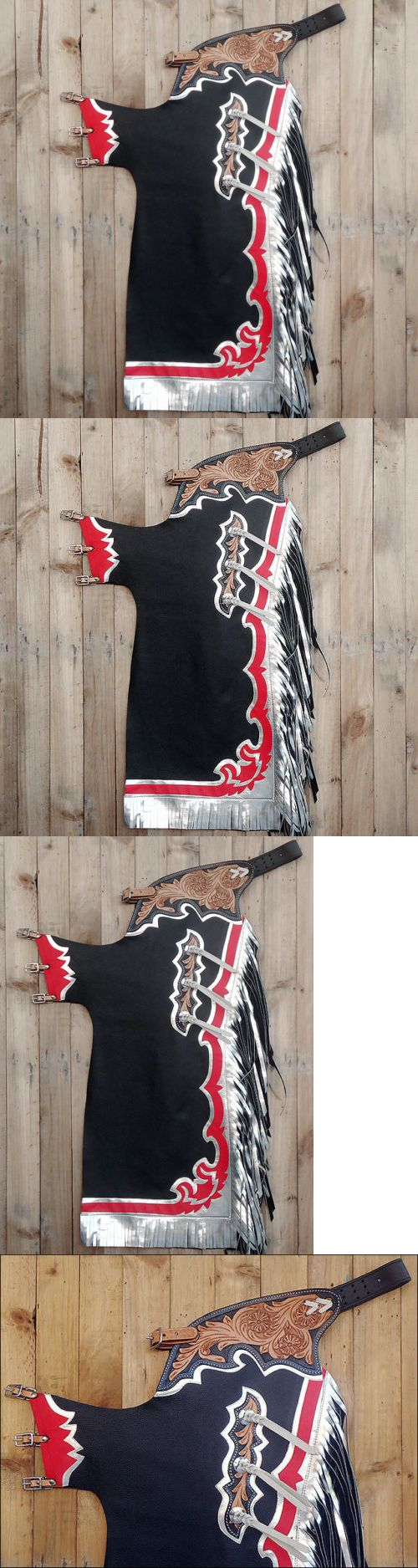 Western Chaps Full Chaps 183358: Hilason Bull Riding Genuine Black Leather Pro Rodeo Western Chaps -> BUY IT NOW ONLY: $198.99 on eBay!