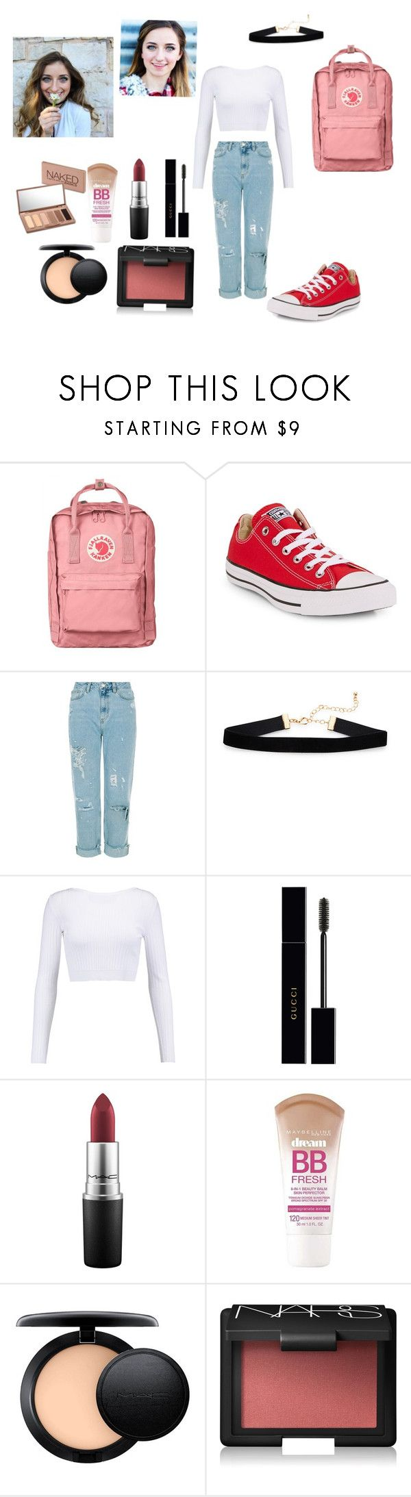 """""""Going to see Brooklyn and Bailey!"""" by queen-keonaaa ❤ liked on Polyvore featuring Fjällräven, Converse, Cushnie Et Ochs, Gucci, MAC Cosmetics, Maybelline, NARS Cosmetics and Urban Decay"""