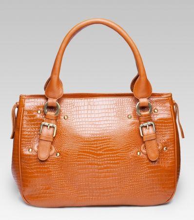 Katrina classic leather handbag in camel- hardtofind.