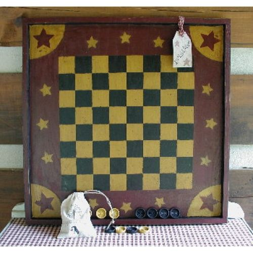 Primitive Star Checker Board Game Board