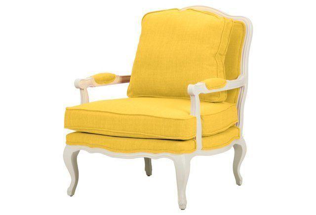 Agatha Accent Chair, Yellow