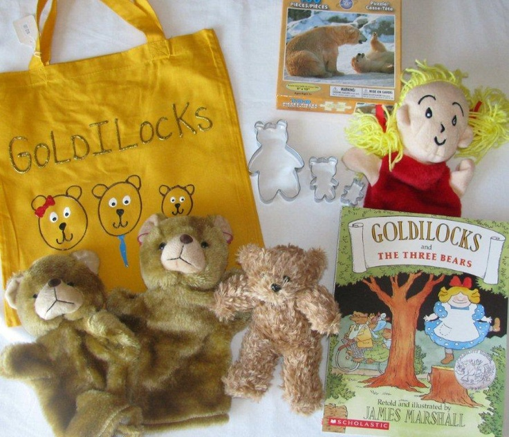 Goldilocks and the 3 Bears homemade literacy bag- links to photo but good ideas to follow.