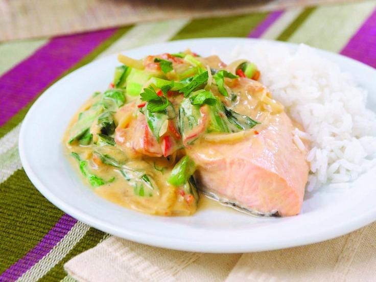 Pavé de saumon au pak-choï