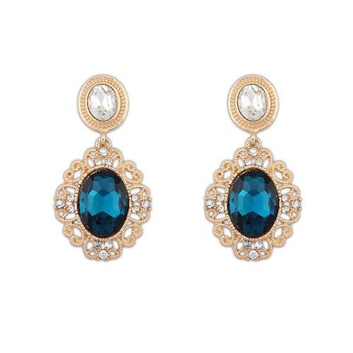 orecchini zaffiro blu