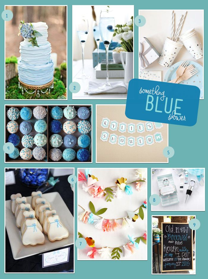 Is blue the bride's favorite color? A Something Blue bridal shower is the perfect way to incorporate something blue into the wedding festivities while showcasing her favorite hue!