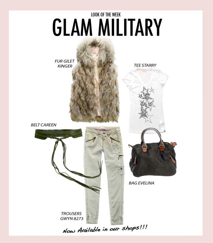 Glam military White!
