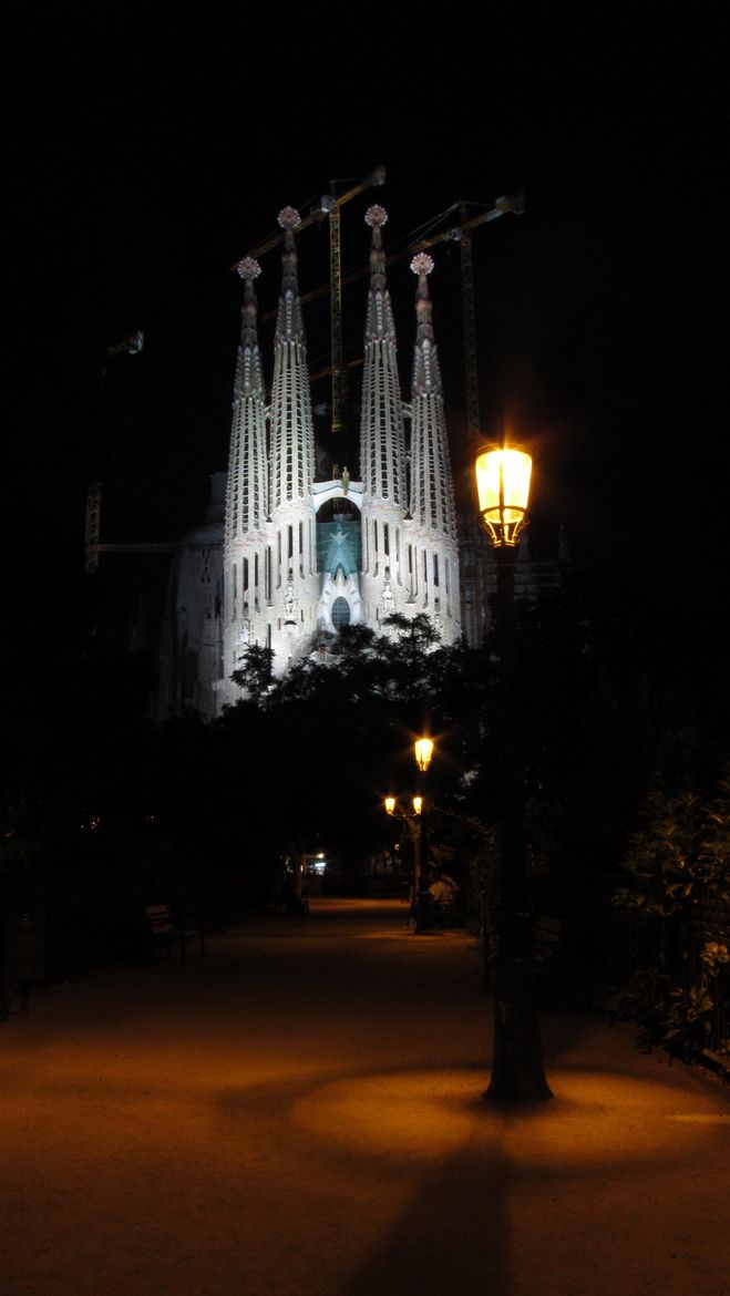 Sagrada Familia at Night by Julio Cesar Silva, Barcelona
