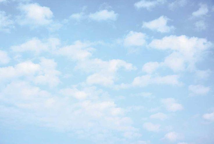 BLEU CIEL Papier peint déco trompe l'oeil ciel et nuages