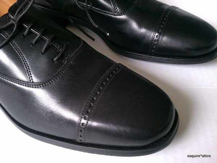 #ebay Florsheim men size 8.5 M dress black leather cap toe shoes withing our EBAY store at  http://stores.ebay.com/esquirestore