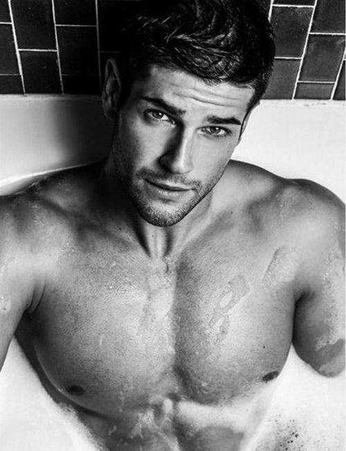 Handsome  sexy Man on a jacuzzi /Male Model/ Jeremy Baudoin