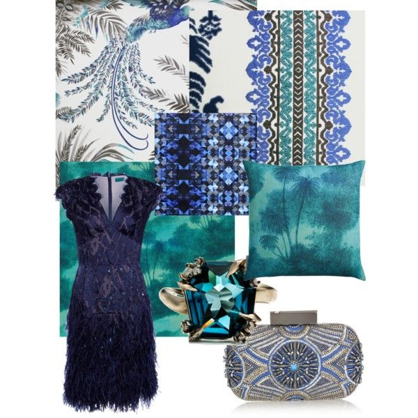 Matthew Williamson Midnight Blue and turquoise